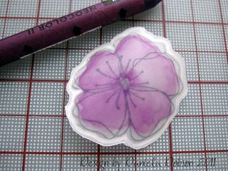 Embossed flower step 7 077999