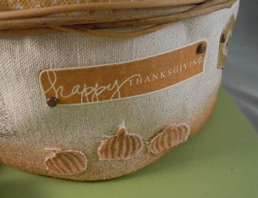 Walnut Basket Happy Thanksgiving