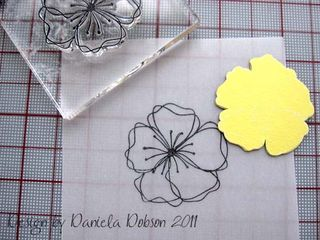 Embossed flower step 3 077222
