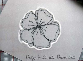Embossed flower step 5 077555