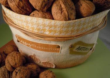 Walnut Basket Close-Up