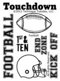 Technique-Tuesday-Football-Clear-Stamps-Medium