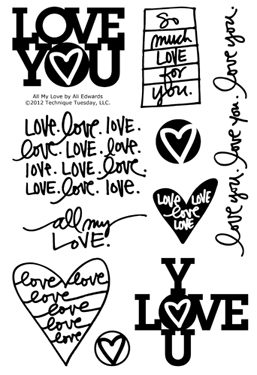 Technique-Tuesday-All-My-Love-Ali-Edwards-Clear-Stamps-Medium
