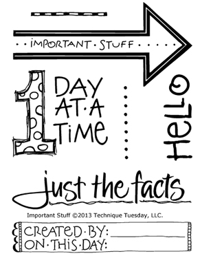 Technique-Tuesday-Important-Stuff-Clear-Stamps-Medium