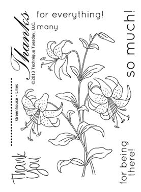 Technique-Tuesday-Greenhouse-Lillies-Clear-Stamps-Medium