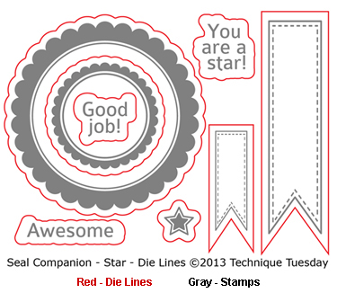 Technique-Tuesday-Die-Lines-Seal-Companion-Star-Medium