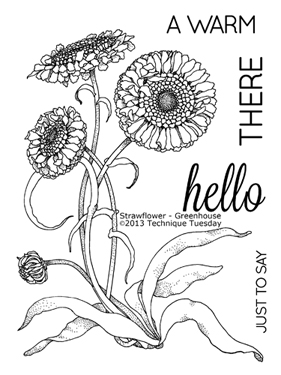 Technique-Tuesday-Strawflower-Greenhouse-Clear-Stamps-Medium