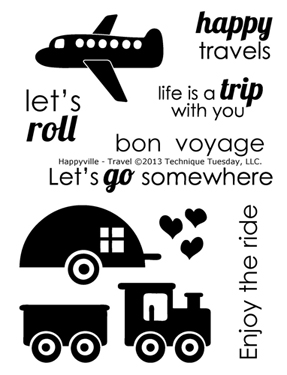 Technique-Tuesday-Happyville-Travel-Clear-Stamps-Medium