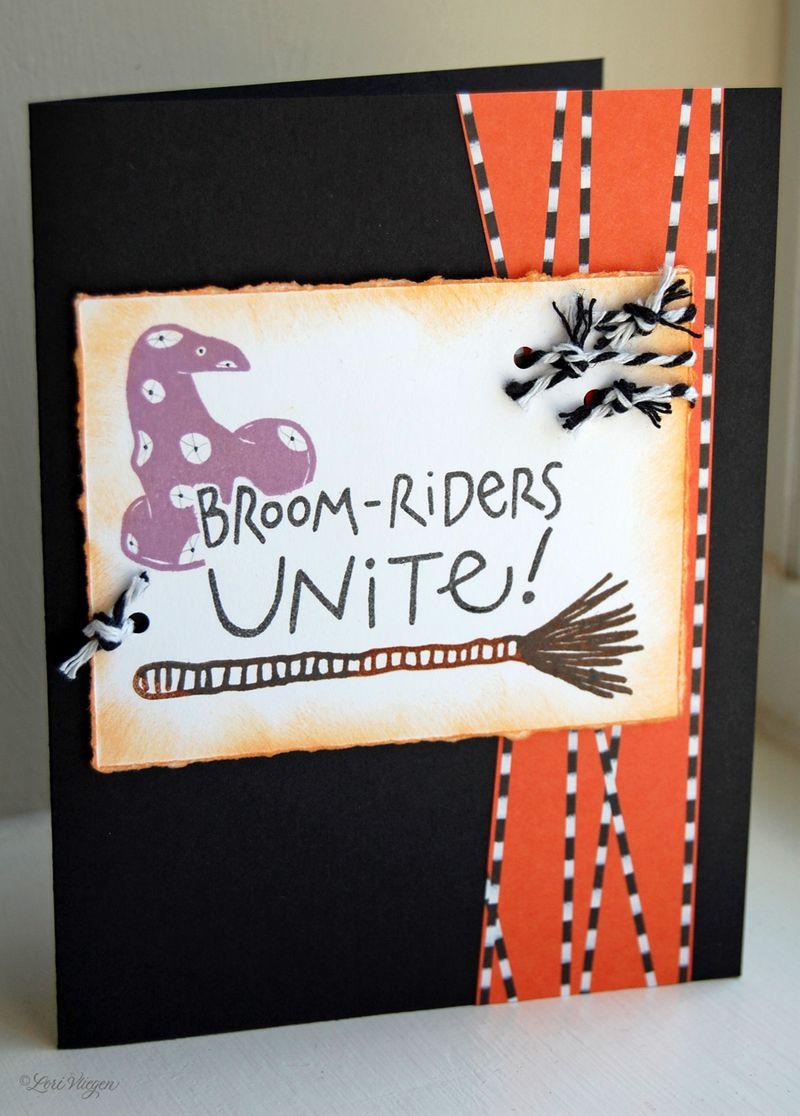 LV broom rider card