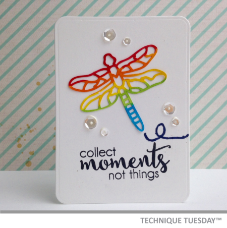 Collect Moments handmade card from Technique Tuesday // TechniqueTuesday.com