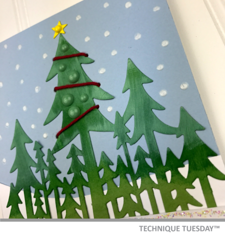 A handmade card created with clear stamps and steel dies from Technique Tuesday // TechniqueTuesday.com
