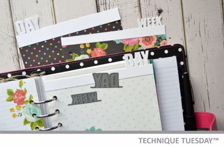 Planner Tabs tutorial from Technique Tuesday // TechniqueTuesday.com