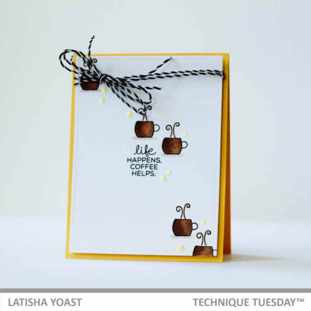 A stamped card by Latisha Yoast for Technique Tuesday || TechniqueTuesday.com