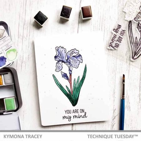 A stamped card by Kymona Tracey for Technique Tuesday || TechniqueTuesday.com