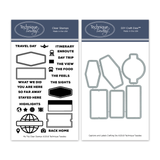 BuMyTri-My-Trip-Stamp-Set-and-Captions-and-Labels-Crafting-Dies-Bundle