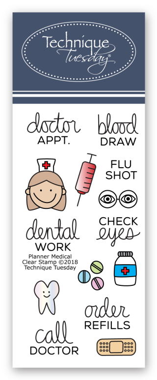 Planner-Medical-Clear-Stamps-Technique-Tuesday-FB