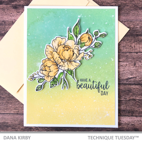 Dana Kirby Fresh Peonies Card Tutorial