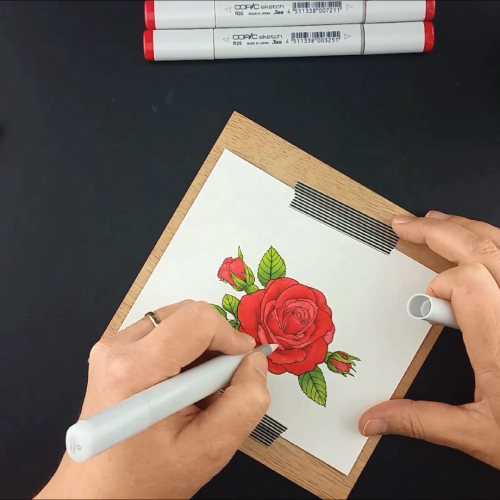Coloring-the-Sending-Roses-Stamp-Set-Greenhouse-Society-Technique-Tuesday8