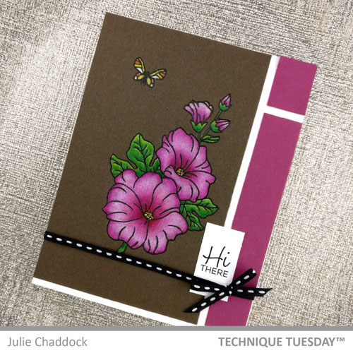 Hi-There-Hollyhocks-Card-Julie-C-Technique-Tuesday-1