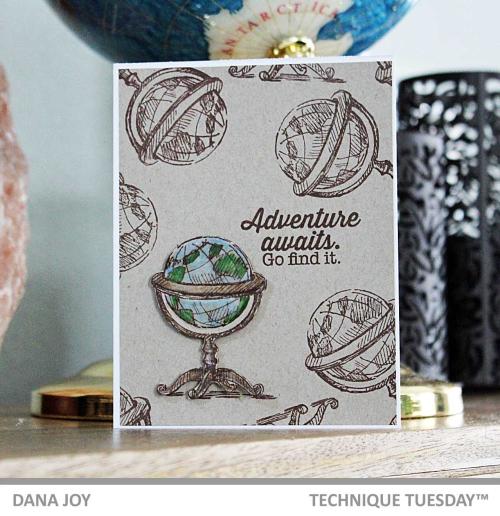Adventure-Awaits-Globe-Card-Dana-J-Technique-Tuesday