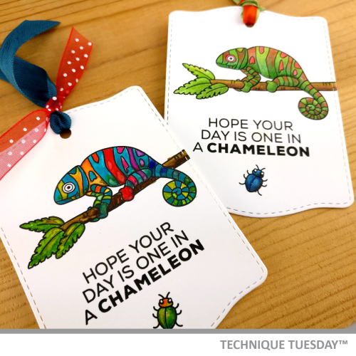 Chameleon-Tags-Julie-C-Technique-Tuesday