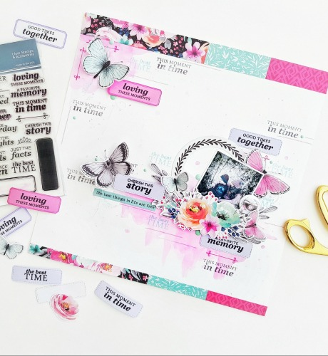 Use Phrases as Scrapbook Page Embellishments