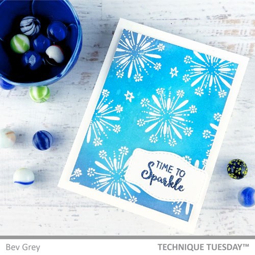 Time-to-Sparkle-Birthday-Card-Spectacular-Memories-Bev-G-Technique-Tuesday