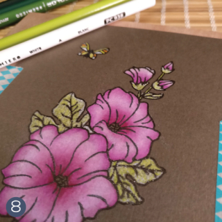 Hollyhocks-Coloring-Tutorial-Technique-Tuesday-step-8
