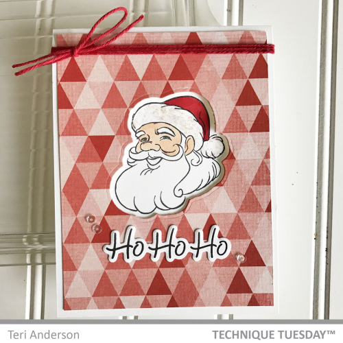 Ho-Ho-Ho-Santa-Triangles-Card-Teri-A-Technique-Tuesday