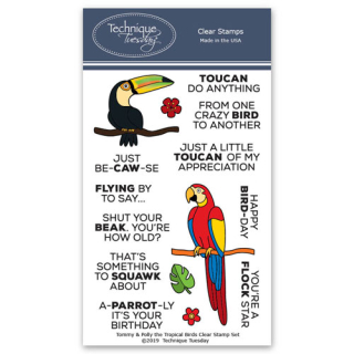 Tommy-and-Polly-the-Tropical-Birds-Animal-House-Clear-Stamps-Technique-Tuesday-FB