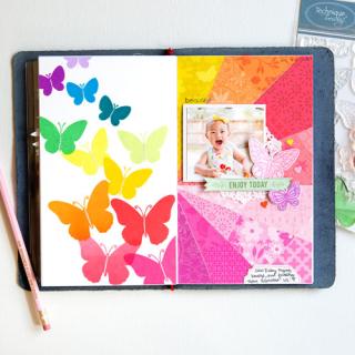 Enjoy Today Butterflies Layout - Jung A