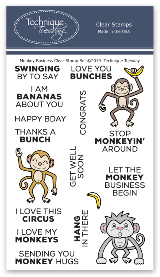 Monkey-Business-Animal-House-Clear-Stamps-Technique-Tuesday