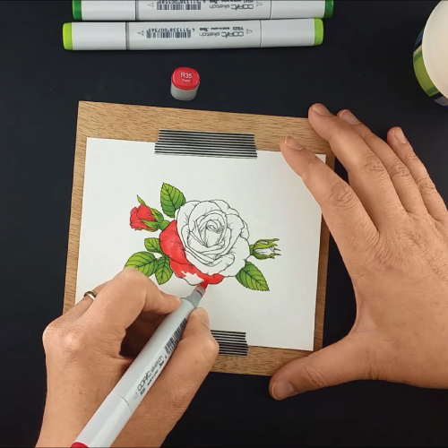 Coloring-the-Sending-Roses-Stamp-Set-Greenhouse-Society-Technique-Tuesday5