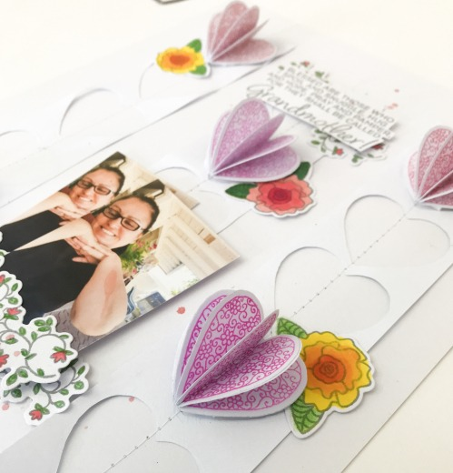 Close-up of Dimensional Scrapbook Embellishments