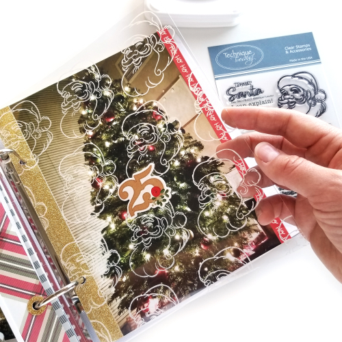 Make a Transparent Santa Embellishment for Your December Daily Scrapbook Page