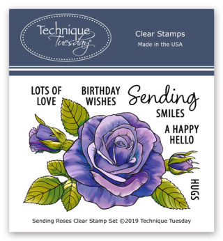 Sending-Roses-Greenhouse-Society-Clear-Stamps-Technique-Tuesday