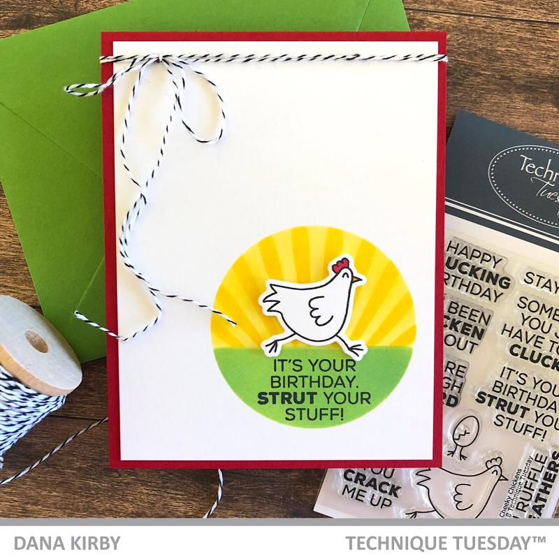 Cheeky Chicken-Card-Sassy-Dana Kirby-Technique-Tuesday0