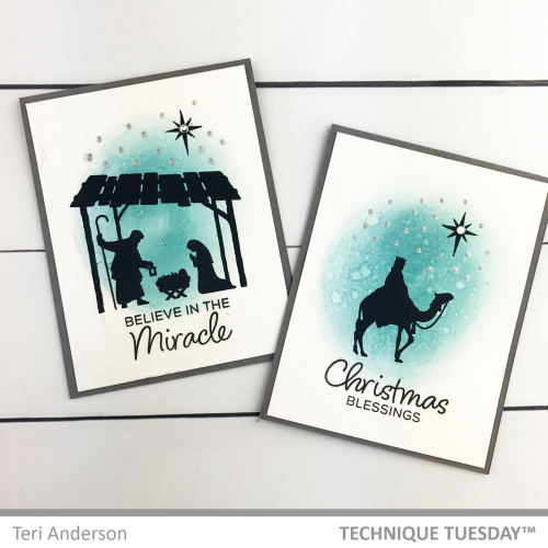 Miracle-Christmas-Nativity-Cards-Teri-A-Technique-Tuesday