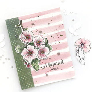 A Heartfelt Hello Blooming Branches Card - Norine B
