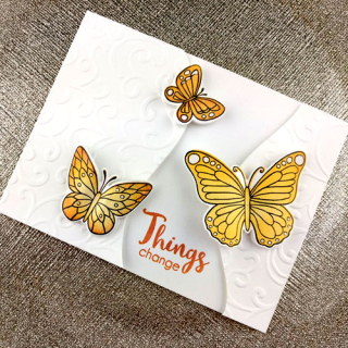 Things Change Butterfly Gate-fold Card - Bev G