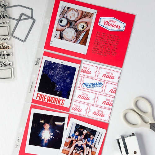 stamp your own patterned scrapbook elements