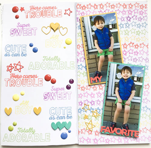 Stamp a Colorful Background For Your Scrapbook Page