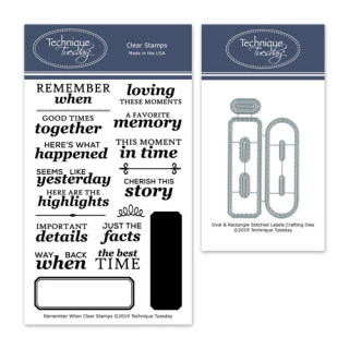 BuRemeW-Remember-When-Scrapbooking-Stamp-Set-and-coordinating-Oval-&-Rectangle-Stitched-Labels-Crafting-Dies