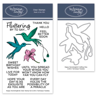 BuHummi-Happy-Hummingbirds-Stamp-Set-with-Matching-Dies-Technique-Tuesday-Blog