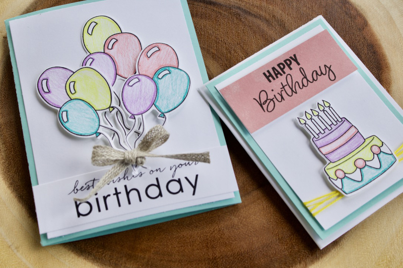 Lets Party Birthday Cards Candace Perkins Technique Tusesday2