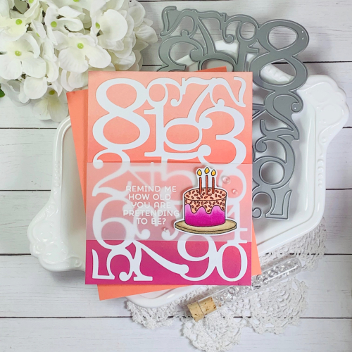 this diy birthday card for best friend reads Remind me how old you are pretending to be. To hammer home the point that the age is arbitrary and potentially unknown, this handmade birthday card for a friend is presented over a backdrop of various numbers