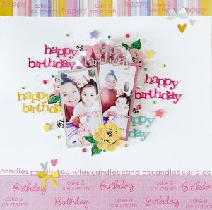 Happy Birthday Scrapbook Layout Neftali Zambrano Technique Tuesday3
