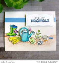 Full Of Promise - Spring Card - Julie-C - Technique Tuesday
