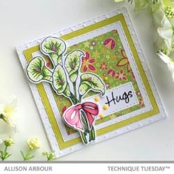 Calla Lily Hugs - Spring Card - Allison Arbour - Technique Tuesday